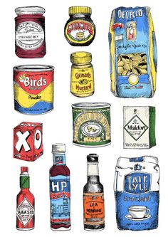 Beautiful food illustrations by May van Millingen Exhibition runs from 11 November – 19 January 2014 at The Modern Pantry, St John's Square, Clerkenwell, London see you there! Ouvrages D'art, Illustration Photo, Illustration Styles, Logos Retro, Pinterest Instagram, Gcse Art, Food Drawing, Art Graphique, Food Illustrations