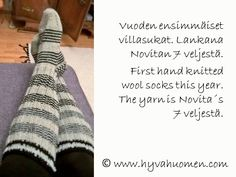 Vuoden ensimmäiset villasukat – First hand knitted wool socks this year Wool Socks, Leg Warmers, Hand Knitting, Leg Warmers Outfit, Woolen Socks