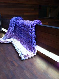 Big Knits, Purple, Rug
