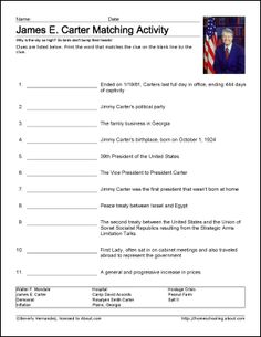 jimmy carter worksheets and coloring pages