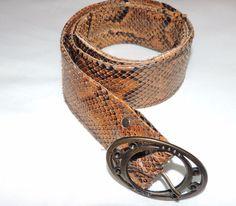 REAL LEATHER Snake Skin BELT Handmade in Africa #Handmade