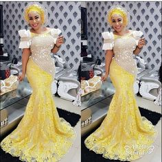 Stunningly Fascinating Dresses Special For The Elegantly Glamorous Women aso ebi styles 2017 ankara aso ebi styles lace aso ebi styles 2017 lace lace. Lace Dress Styles, African Lace Dresses, African Dresses For Women, African Attire, African Wear, African Fashion Dresses, African Women, African Outfits, Ankara Fashion