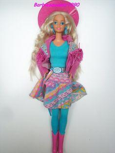 Barbie western fun 1990. Best Barbie EVER Ik heb deze nog steeds :)