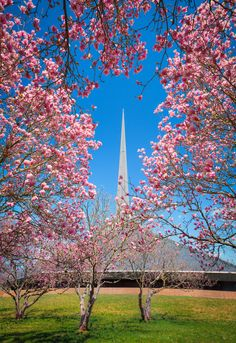 Eero Saarinen's North Christian Church and Dan Kiley's landscape / Columbus, Indiana / photo by Chris Harnish