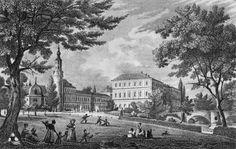 Het Schloss in Weimar van de groothertog, afbeelding uit 1840