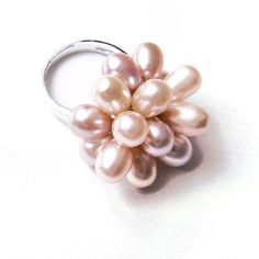 Freshwater Cultured Pink Cluster Pearl Ring « Holiday Adds