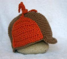 Crochet baby hunting hat by BoutiqueofVirtuosity on Etsy