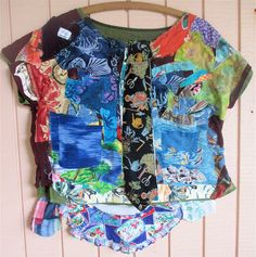 PATCHWORK+COLLAGE+Folk+Art+COUTURE+++Altered+Fabric+by+MyBonny