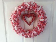 Sweetheart Valentine Wreath by ThePrincessLoft on Etsy