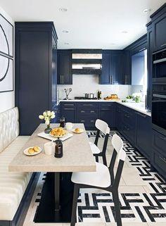 50 Best Kitchen Design Ideas for 2016 | Kitchens, Navy Blue Kitchens and Navy