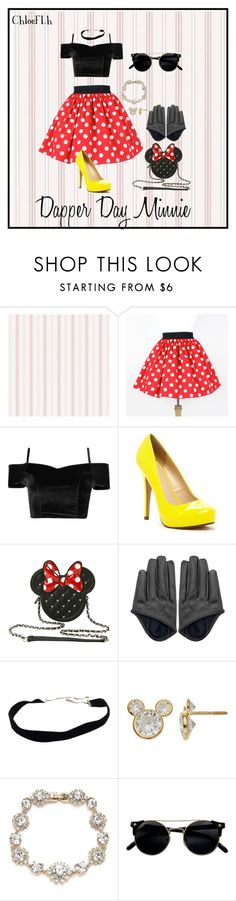 """Dapper Day Minnie"" by juste-une-petite-chose on Polyvore featuring moda, Michael Antonio, Disney y Marchesa"