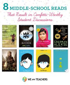 8 Middle school reads that result in confetti worthy discussions !
