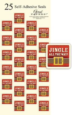 7b4aeb406fb8 Jingle All The Way Holiday Seals Stickers - 25 Count   Designer Papers