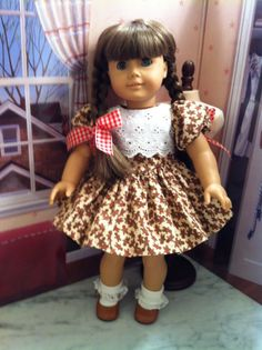 American Girl Doll ClothesChristmas Gingerbread by gofancynancy, $24.99
