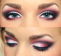 Pink eyeshadow blend