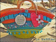 Le Mattine. colorido bolso para la playa