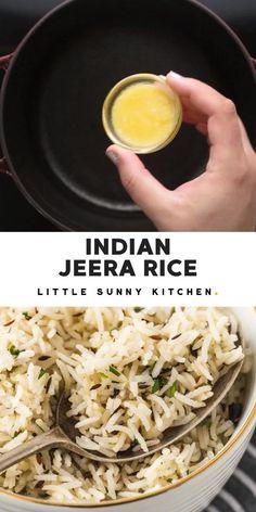 Basmati Rice Recipes, Easy Rice Recipes, Veg Recipes, Healthy Chicken Recipes, Indian Food Recipes, Asian Recipes, Vegetarian Recipes, Cooking Recipes, Cumin Rice Recipe