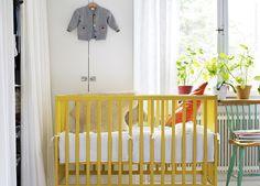 yellow crib...so sunny and warm