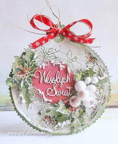 Kartka świąteczna - bombka