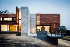 This contemporary single family residence designed by Moloney Architects is located near Ballarat, Australia.