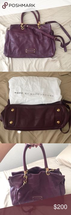 Marc by Marc Jacobs bag Gently unused Marc by Marc Jacobs bag in a beautiful wine color. Has a detachable cross body strap and comes with the duster bag Marc by Marc Jacobs Bags
