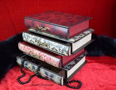 Book box romanticLarge Jewelry BoxApothecary CabinetMini Chest of