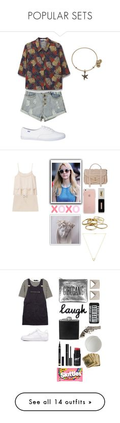 """""""POPULAR SETS"""" by cacaubsampaio ❤ liked on Polyvore featuring MANGO, Alex and Ani, Yves Saint Laurent, Proenza Schouler, Kendra Scott, Wanderlust + Co, NIKE, TIBI, Sarah Baily and Margaret Howell"""