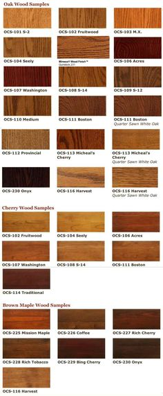 Mahogany Stain Color Charts  Wood Species Color Chart  Mahogany