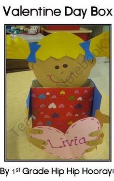 FREE Valentine Box Craft product from First-Grade-Hip-Hip-Hoora on TeachersNotebook.com