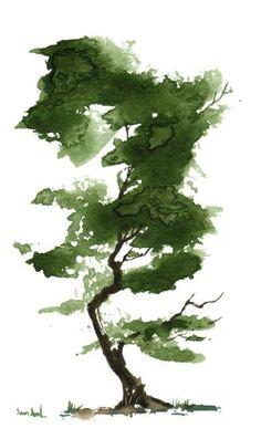 Résultat d'images pour Watercolor Trees