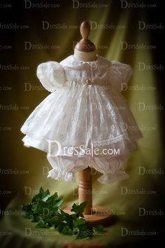 92b1cdffb Cute Flower Girl Dress with Delicate Lace Lace Christening Gowns, Christening  Outfit, Baptism Outfit
