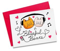 Blissful Beats Greeting Card by Hey, It's Meu!