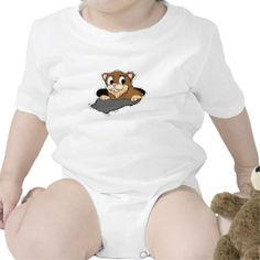 Infant Tee - This groundhog is getting a sneak peek from his burrow as he spots his shadow. Customize to your liking. Available on all styles and sizes.