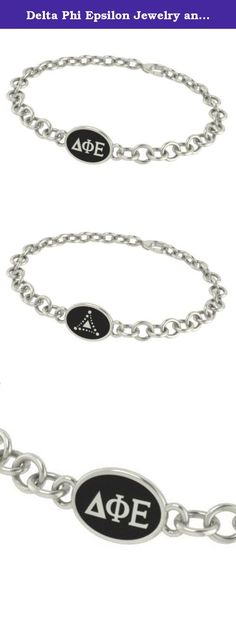 Delta Phi Epsilon Jewelry and Silver Bracelets. Our Delta Phi Epsilon sorority jewelry and bracelets are made in solid sterling silver with a high quality sterling silver Antiqued charm. Our bracelets have the finest detail and are the highest quality of any Delta Phi Epsilon sorority bracelet available. In stock for fast shipping and if for some reason you don't like it? Send the bracelet back for a full refund..... Delta Phi Epsilon Silver Jewelry - Silver Link Bracelet.... Metal…