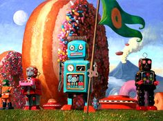 Step Into A World Of Tiny Robots & Colourful Donuts