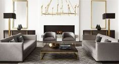 restoration hardware modern collection via zwei-design.com