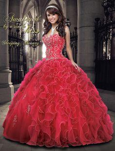 33f0a59da6c Fast Shipping Modest Quinceanera Dress Embroidery 2015 Sweet 16 Dress Ball Gowns  Tiered Organza Ruffles Vestidos