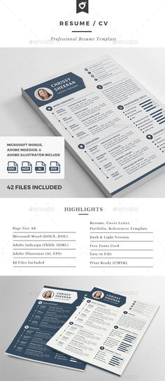 Infographic resume template design | SERIOUS BUSINESS | Pinterest ...