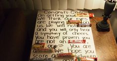 My brother just graduated from High School, and since I'm a Pinterest addict, I've seen so many ideas, sowith some tough convincing, helet...
