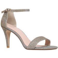 Carvela Kiwi Barely There High Heel Sandals, Bronze ($51) ❤ liked on Polyvore featuring shoes, sandals, stiletto sandals, single strap sandals, bronze shoes, heels stilettos and stiletto high heel shoes