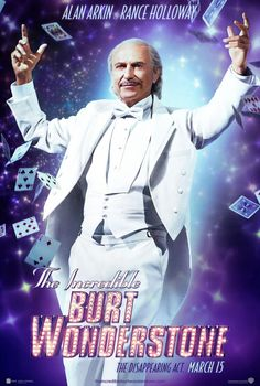 The Incredible Burt Wonderstone , starring Steve Carell, Luke Vanek, Steve Buscemi, Mason Cook. When a street magician's stunts begins to make their show look stale, superstar magicians Burt Wonderstone and Anton Marvelton look to salvage on their act - and their friendship - by staging their own daring stunt. #Comedy