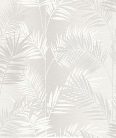An elegant on trend tropical palm leaf wallpaper in a neutral colourway is a perfect four wall design. With a glitter sheen, this paper adds a refreshing feel to any. Wallpaper for the wall design and ideas Palm Leaf Wallpaper, Tropical Wallpaper, Watercolor Wallpaper, Metallic Wallpaper, Print Wallpaper, Textured Wallpaper, Textured Walls, Glass Design, Wall Design
