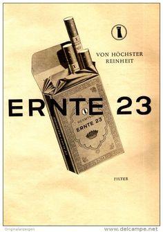 Original-Werbung/ Anzeige 1958 - 1/1 Seite - ERNTE 23 ZIGARETTEN - ca. 180 x 240 mm