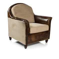 Canvas & Leather Grandpa Chair - You Complete Me - Temple & Webster presents
