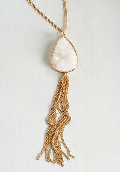 Just Encase Necklace - White, Wedding, Casual, Daytime Party, Beach/Resort, Bridesmaid, Bride, Sundress, Boho, Festival, Gold, Spring, Summer