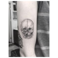 """DaVinci skull sketch on @iolovesyou"""