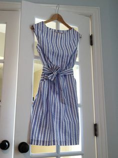 Blue and White Dress l Saturday Style
