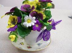 how to create a teacup floral arg