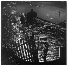 Security light. Gelatin silver print. Copyright Andrew sanderson. www.andrewsanderson.com Black and White photography, Analogue, Film.