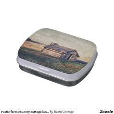 rustic farm country cottage landscape jelly belly candy tins
